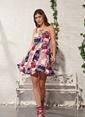 Gizzey Kadın Elbise Bordo